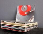 Urban Wall Art - Retro Red Vinyl Record Photography