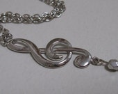 Music Lover - treble clef necklace