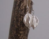 sterling seed pod earrings