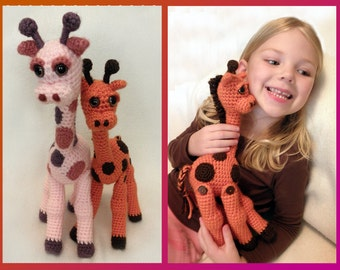 Jointed Giraffe - PDF Crochet Pattern