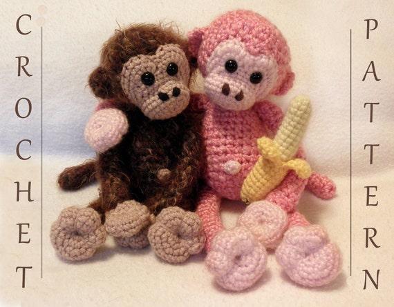 Cuddly Monkey - PDF Crochet Pattern