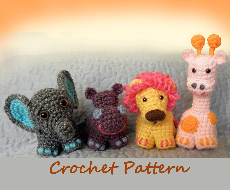 Amigurumi Jungle Animals : Safari Friends Crochet Critters or Mobile PDF Crochet