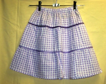 Lilac 3 tier skirt for 6 yr old