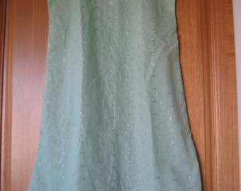Apple Green Sun  frock for 10 yr old