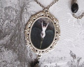 Gothic Jewelry, Victorian Bat Lady Necklace,  Choker, Vampire Jewellery, Vintage, Goth - Dark Trance