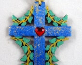 Wooden Cross Christmas Ornament 118