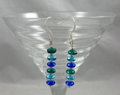 Shades of Blue Beaded Earrings 301