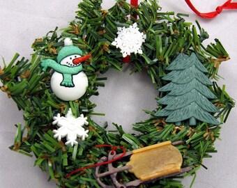 Snowman Christmas Ornament - Let It Snow 110