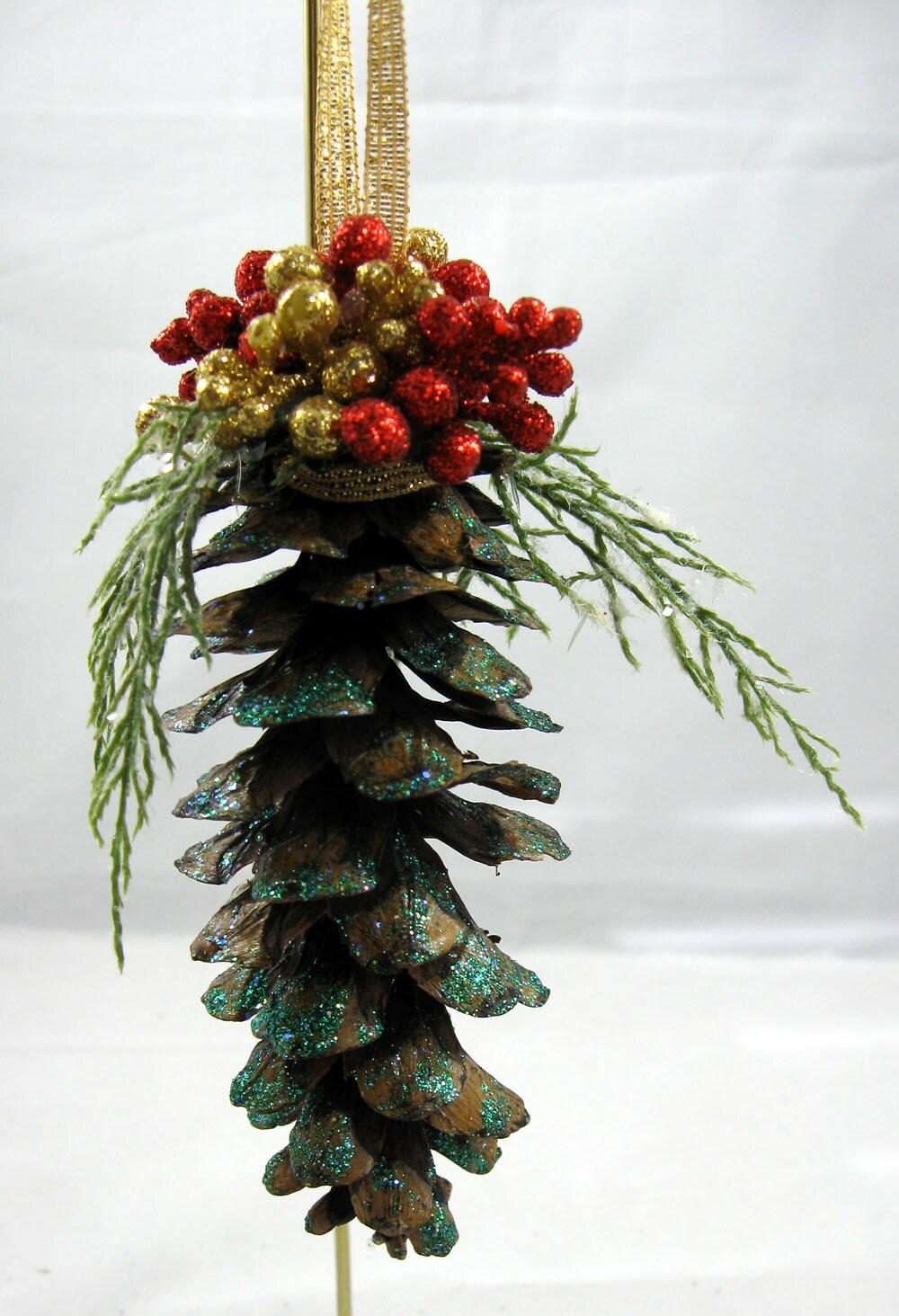 pine cone christmas ornament 102. Black Bedroom Furniture Sets. Home Design Ideas