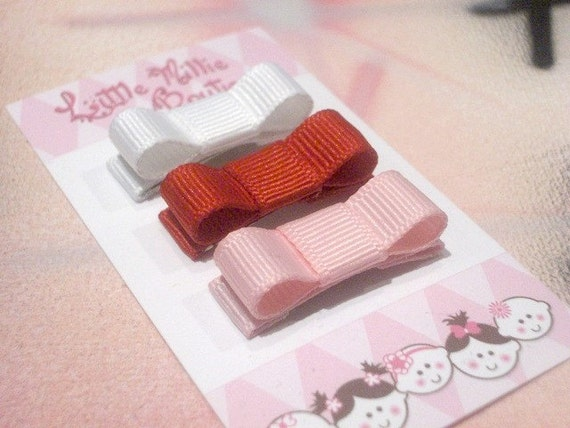 Infant Toddler Assorted Tuxedo Bow Hair Clips