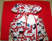 Snowpeople on Parade Gift Bag and Gift Tag