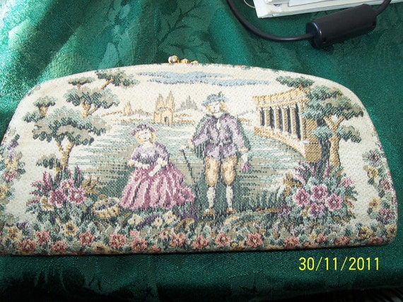 Vintage 1950's  Baronet French Floral Billfold  A beautiful  gift for a special lady
