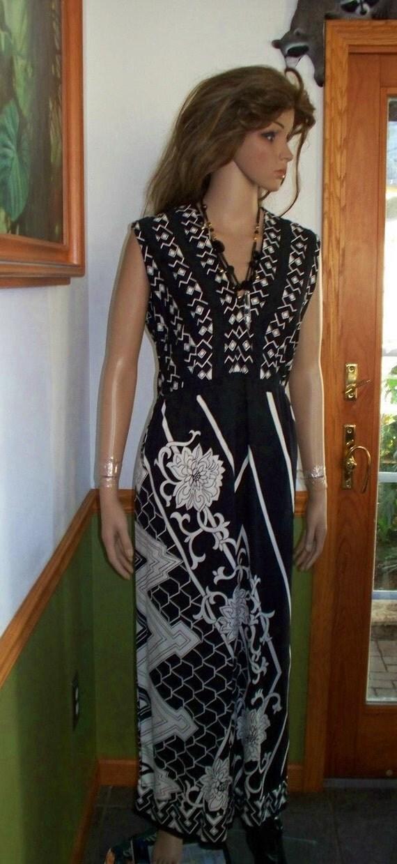 Hold for Pamela Vintage 80s  Saks Fifth Avenue  FESTIVAL print  Maxi Dress