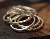 1 Twig Ring Solid 14k Gold