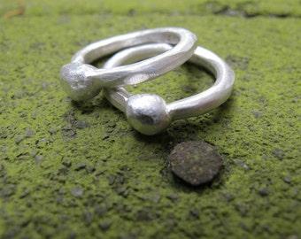 Pure Silver Organic Chunky Rings