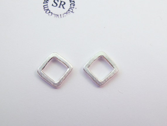 5.5mm Sterling Square Post Earrings