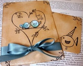 Love Bird Wedding Invitations With RSVP cards, Envelope printing and Love Seal Stickers x 50