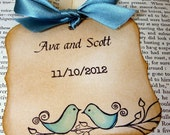 The Love Birds Save The Date Magnet Tags-Colour Options Available
