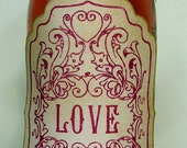 Love Potion Vintage Style Stickers/Adhesive Labels in Red-SET of 7 by Craftypagan Designs