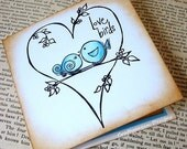 The Love Birds-Luxury 3D Note Card Invitation with Envelope-By Craftypagan Designs