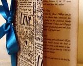 Vintage Style Wedding Menu/ Order of Service/ Love Script Rehearsal Dinner Menu