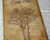 Woodgrain Table Number Fall Wedding-Double Sided by Craftypagan Designs
