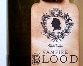 Vampire Blood-Handmade Set of 6 Tags/Labels for Halloween by Craftypagan Designs