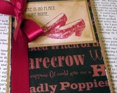 The Wizard Of Oz Pocketbook-Ruby Slippers-Limited Edition Altered Moleskine Pocketbook/Notebook