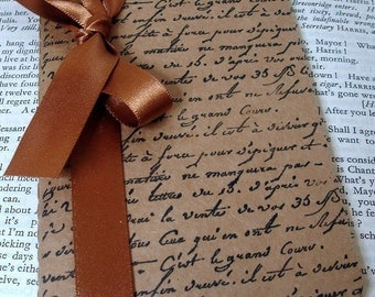 French Script Pocketbook Perfect for Gifts and Favors