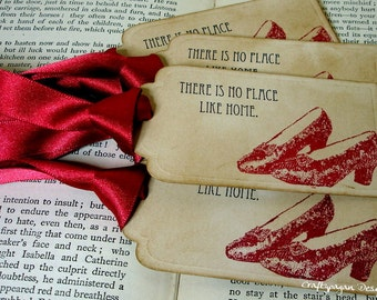 There's No Place Like Home-Wizard of Oz Vintage Tags SET of 60-Ribbon Choices