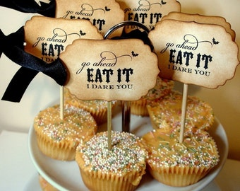 Halloween Cupcake Toppers-SET of 8