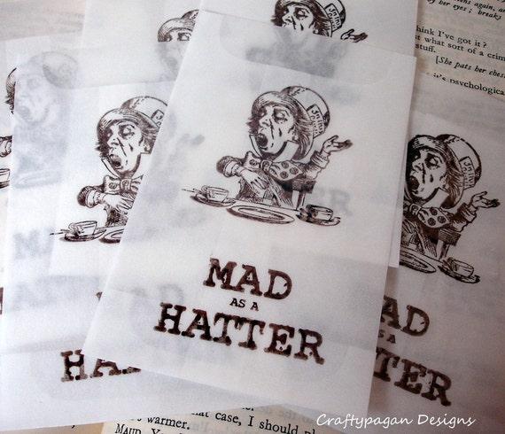 Alice in Wonderland Small Glassine Favor Bags- Assorted Selection- Set of 50