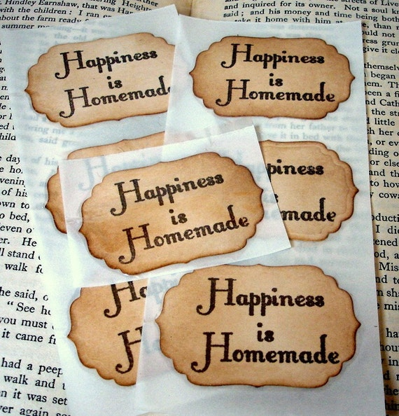 Sticker Seals-Happiness is Homemade-BUNDLE Set of 200