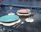 Nautical Decor - Set of 2 nautical cotton placemats - fabulous for housewarming, hostess gift