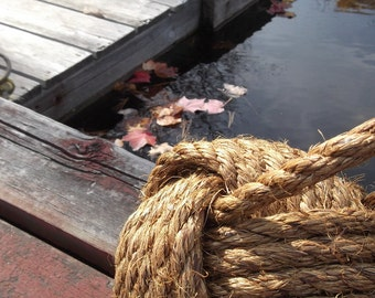 Rope Doorstop - Nautical Home Decor