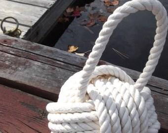 Cotton Nautical Doorstop - Great Doorstop - Under 50 - Nautical Gift for Her