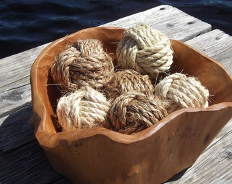 Nautical Home Decor -  Knot Bowl Fillers in Manila or Sisal Rope - 6 knots