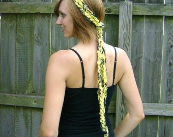 Yellow  Braided Super Long Versatile Headwrap