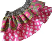 "Girls Skirt Pattern Pattern PDF, Easy Sewing Pattern ""The Chloe Double Ruffle Skirt"" sizes 12m-8"
