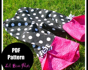 Girls Pants Pattern PDF Sewing Patterns, Easy, Baby, Instant Download...Wide Leg Lil Diva Pants ...sizes 6-10