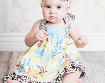 Girls Dress Pattern, Easy Sewing PDF Pattern, Sewing Patterns The Riley Dress 12m-8