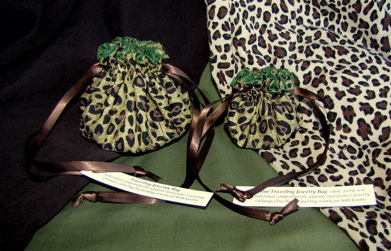 Wild Cheetah Jewelry Bag Set