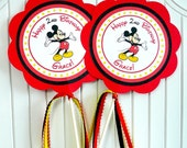 Mickey Mouse Birthday Party - Set of 2 Centerpieces