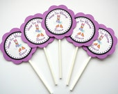 Daisy Duck Birthday Party - Cupcake Toppers - Set of 24