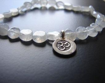 Yoga Jewelry | Om Moonstone Bracelet | Journey Bracelet | Mala Bracelet | Boho Bracelet | Om charm | Beaded Bracelet | Yoga Bracelet |