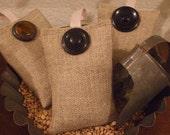 Primitive Linen Burlap Sachet Balsam Bag