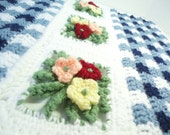 Throw Blanket Crocheted in Gingham Garden in any color