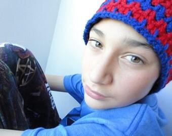 Winter Hat / Beanie Hat / Crochet Hat / Teen Hat / Blue Hat / Red Hat / Winter Accessories / Crochet Beanie / Cap /
