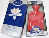 sale // Vintage DAVOL Petal Hot Water Bag in Original Box