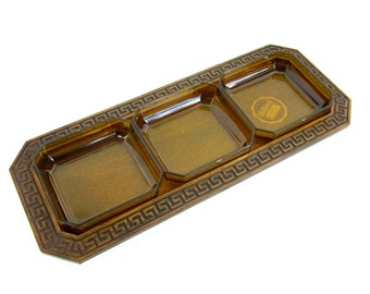 Thermo-Serv Westwood Faux Bois Relish Tray 60s